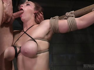 Black and white beggar tied up sexy Bella Rossi to fuck say no to holes