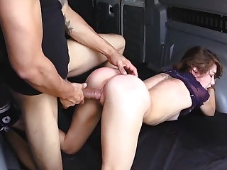Helpless Faye ends up in the van