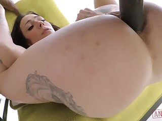 Cool milky brown-haired just about giant, immutable jugs, Harlow Harrison had assfuck fuck-a-thon just about a dark-hued boy