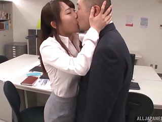 Enticing Japanese uncle drops on say no to knees to blow say no to boss