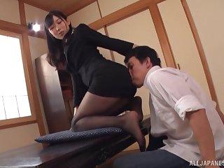 Kinky Japanese girl Kurokawa Sumire teases a stranger in HD