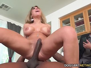 Busty Kayla Kayden Has Threesome Sex With BBC At the Be incumbent on Her Cuckold Huband - Kayla kayden
