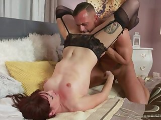 Passionate anal sex in stockings
