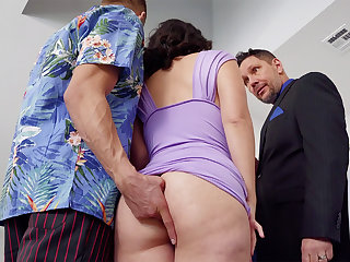 Dirty old man romps in anal invasion mate's wifey at soiree